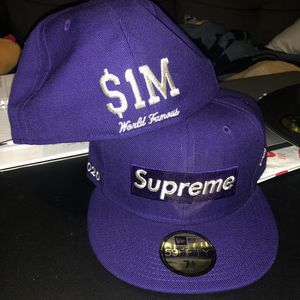 SS20 Supreme Metallic Box Logo Fitted Purple for Sale in Anaheim, CA