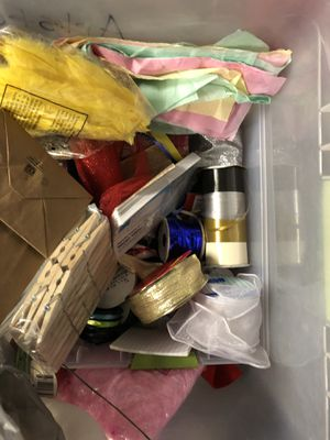 Large bin of craft supplies for Sale in Portsmouth, VA