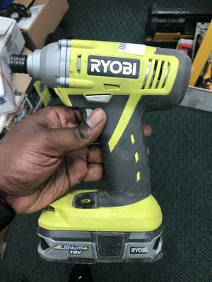 Impact Driver , Tools-Power Ryobi W/Battery No Charger... Negotiable for Sale in Baltimore, MD