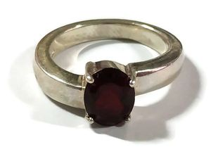 925 sterling silver ring with dark red zircon for Sale in Bloomfield Township, MI
