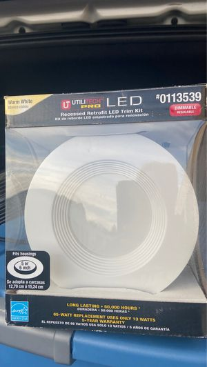 Utilitech light led recessed incandescent fixtures: 3 pieces for Sale in Langhorne, PA