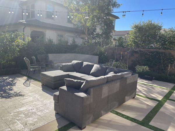Very Cozy Sectional Couch LIKE NEW, FREE DELIVERY !