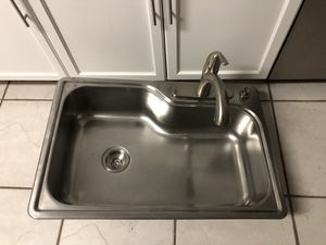 Kitchen sink, Faucet and drain for Sale in Tampa, FL