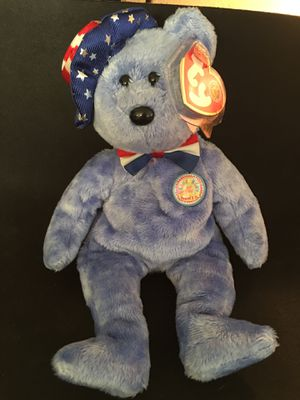 Founders the light blue with red white blue hat Ty Beanie Baby AUTHENTIC- ORIGINAL for Sale in La Habra Heights, CA