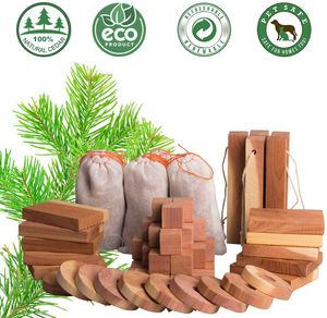 Aromatic Cedar Blocks for Clothes Storage, 100% Natural Cedar Balls Hangers Clothes Protector, Closets & Drawers Freshener (60Pack) for Sale in Tampa, FL