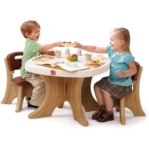 Kids Table and 2 Chairs Set, Brown for Sale in Los Angeles, CA
