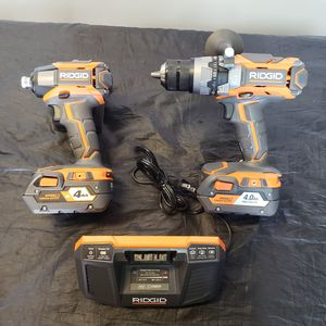 Ridgid 18v gen5x hammer drill and 3speed impact driver kit for Sale in Fullerton, CA