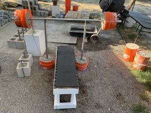 Dumbbells, barbell, bench, weight, curl bar, plates for Sale in San Diego, CA