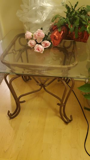 Side table glass coffee for Sale in Norfolk, VA
