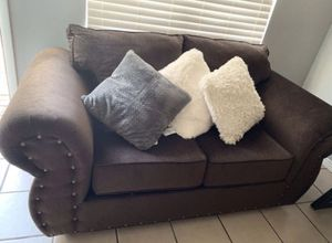Sofa and loveseat rich brown chocolate for Sale in Phoenix, AZ