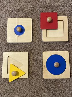 Montessori Single Shape Puzzles with pegs for Sale in Los Angeles,  CA