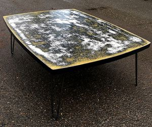 Recycled modern coffee table to help at risk kids for Sale in Troutdale, OR