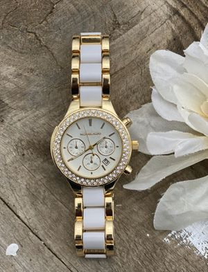MK watch gold and white for Sale in Madison Heights, VA