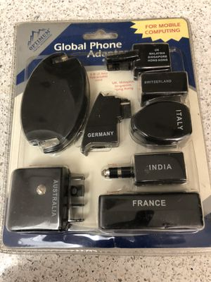 Global Phone adapter kit - Connect yr phone modem/laptop in different countries. NEW, original sealed pack. for Sale in Los Angeles, CA