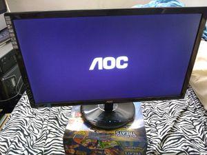 "AOC brand 23"" Flatscreen Monitor / DVi-D / VGA / Full HD (1080p) 1920 x 1080 at 60 Hz / glossy piano black for Sale in Queens, NY"