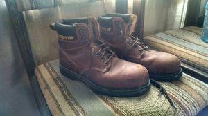 Cat steel toe work boots for Sale in Wichita, KS