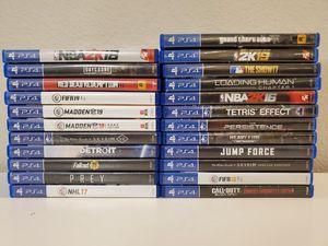 PS4 Games (Read Description) for Sale in Chula Vista, CA