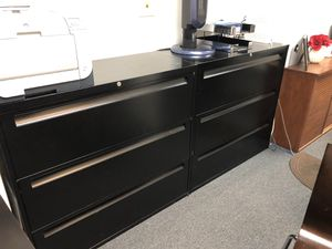 2/ 3 Draw filing cabinets (black) $180 each for Sale in Lynn, MA