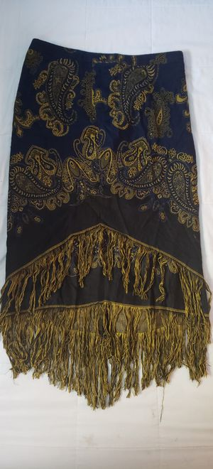 Lane Bryant Plus Size Stunning Fringe Tassel Skirt size 14 Large Beautiful Details New with Tags for Sale in Las Vegas, NV
