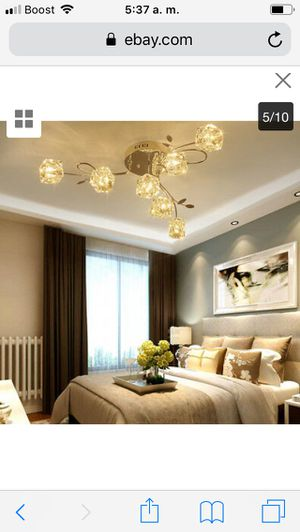 Modern Crystal Cube Ceiling Light Pendant Lamp Warm Lighting Fixture Chandelier price firm $80 for Sale in Hayward, CA