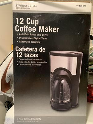 12 Cup Coffee Maker NEW for Sale in Lawrenceville, GA