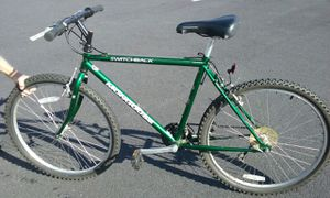 "Mongoose Switchback men's green 26"" chromoly All-Terrain bike for Sale in Smyrna, GA"