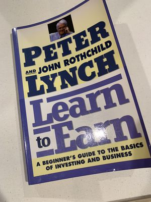 Learn to earn by Peter Lynch for Sale in Los Angeles, CA