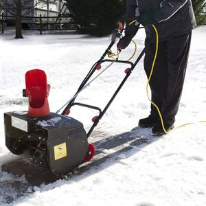 Snow Joe Max SJM988 18-Inch 13.5-Amp Electric Snow Thrower with Light in RED for Sale in Boston, MA