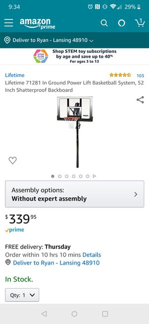 "Brand New 52"" Lifetime Basketball Hoop for Sale in Lansing, MI"