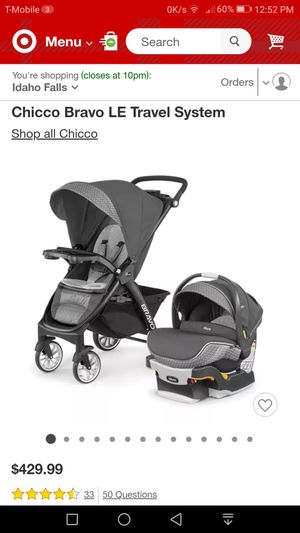 Brand new Chicco Bravo LE Travel System for Sale in West Valley City, UT