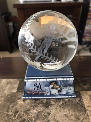 Derek Jeter 2014 Glass Baseball Sculpture for Sale in Chelmsford, MA