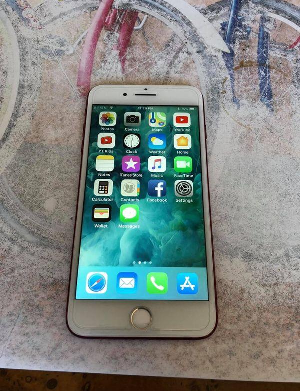 Red IPhone 7 Plus 250 gb