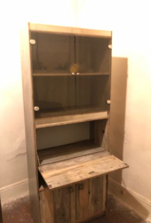 Real wood bookshelf and writing desk for Sale in Queens, NY