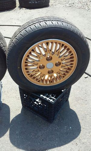 14 inch gold rims nice and clean for mitsubishi car or accord for Sale in Bridgeport, CT