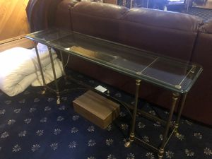 Glass topped entryway console table for Sale in Oceanside, NY