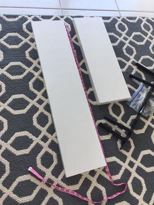 Set 2 white floating shelves for Sale in Pompano Beach, FL