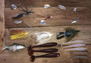 Swimbait and Spinnerbait Fishing Lure Lot for Sale in Martinsville, IN