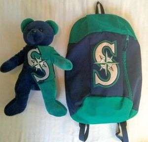 Mariner's Backpack & Plush Bear for Sale in Bonney Lake, WA