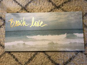 Beach love ocean sea canvas art picture for Sale in San Francisco, CA