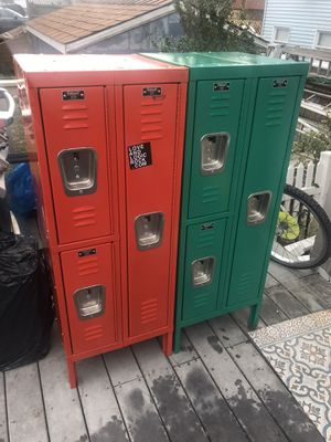 2 Great Hallowell lockers for work or home gym for Sale in Queens, NY