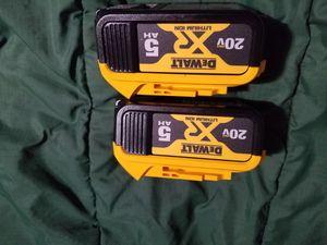 Dewalt 20v 5ah batteries for Sale in Selma, CA