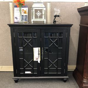 Vintage Black Accent Cabinet for Sale in Houston, TX
