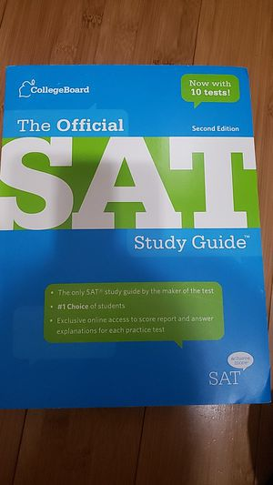 The Official SAT Study Guide Second (2nd) Edition by College Board for Sale in Ontario, CA