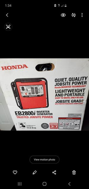 HondaEg2800IAG 2800-Watt Inverter Gasoline Portable Generator for Sale in San Diego, CA