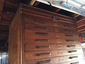 Vintage industrial antique oak cabinet for blue prints or maps. Awesome piece! Must sell, huge price drop. for Sale in Seattle, WA