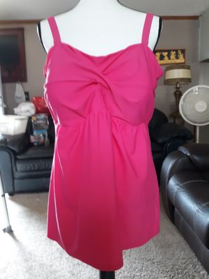 Hot Pink Tankini 2 pc Swimsuit Bathing Suit XL 1X for Sale in Suffolk, VA