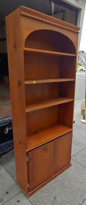 "#28050 Stained Pine 78"" x 32"" Wide Shelf with Cabinet Storage for Sale in Oakland, CA"