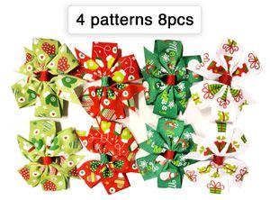 8pcs Xmas Christmas Ribbon Hair Clips for Sale in Norfolk, VA