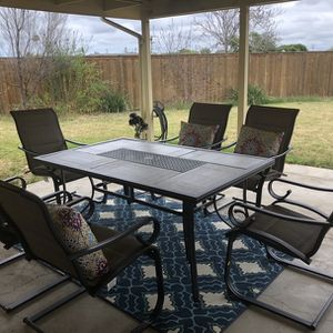 7-Piece Padded Sling Outdoor Patio Dining Set in Putty Taupe for Sale in San Diego, CA