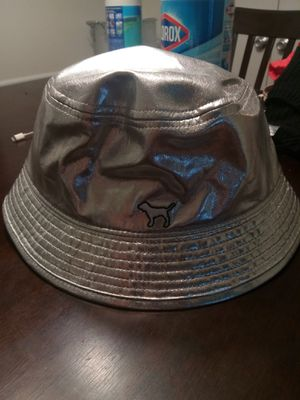 Pink Vs Metallic silver bucket hat for Sale in Atlanta, GA